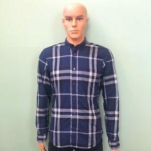 Burberry Men's Blue Shirt Size M